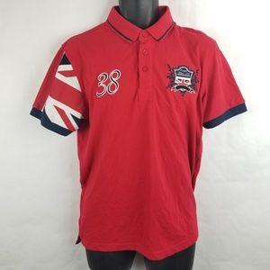 NWT Kangol Rugby Flag Polo Shirt British Medium